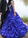robe bustier mariée fiancaille bleue - Occasion du Mariage