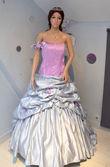 Robe de mariée d'occasion parme argenté à Paris 2012 - Occasion du Mariage