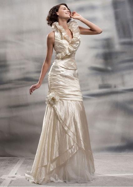 Robe de Mariée en taffetas - bustier + jupe