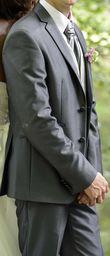 Costume de marié Gianni Marco couleur gris ardoise métallisé - Occasion du Mariage