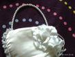 Petit sac blanc satiné demoiselle d\'honneur - Occasion du Mariage