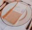 Serviettes de table écrues - Occasion du Mariage