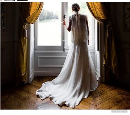 Robe de mariée Delphine Manivet modèle Ansleme T 36 - Paris