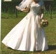 robe de mariée soie sauvage et dentelle - Occasion du Mariage