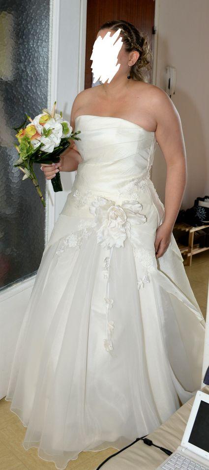 Robe de mariée bustier 42-44 d'occasion  - Seine Maritime