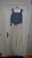 Robe de mariée corset bleu et jupe ivoire pas cher en 2012 - Occasion du Mariage