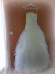 Robe de mariée bustier couleur ivoire Point Mariage collection 2013