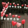 lot 50 ballons coeurs  blanc decoration salle mariage - Occasion du Mariage