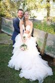 Magnifique robe de mariée rose poudré en organza - Essonne