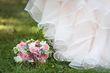 Magnifique robe de mariée rose poudré en organza - Occasion du Mariage