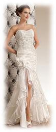 Robe de mariée bustier fourreau/sirène fendue au genou OREA  - Occasion du Mariage