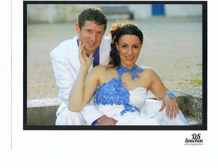 Robe de mariée d'occasion, dentelle sur le bustier pas cher  - Occasion du Mariage