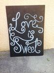 Décoration mariage panneau love is sweet - Occasion du Mariage