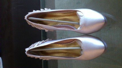 Escarpins de mariée blancs - Occasion du Mariage