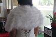Boléro blanc en plumes d\'oie - Occasion du Mariage