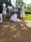 robe de mariée blanche et grise - Occasion du Mariage