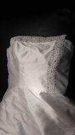 robe de mariée bustier perles t.44/42 - Occasion du Mariage