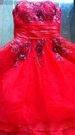 Robe de mariée ou de soirée rouge - Occasion du Mariage