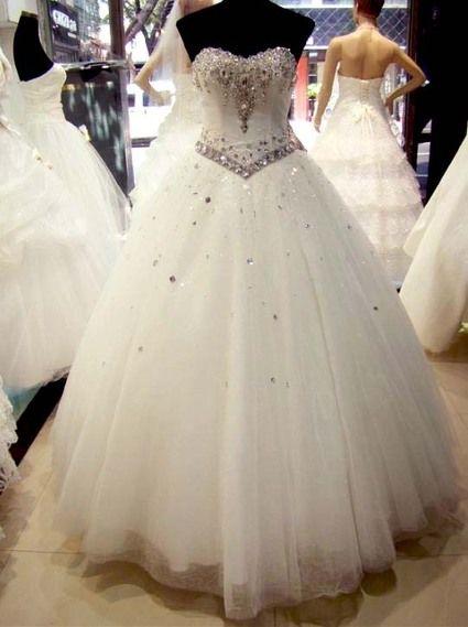 Robe de Mariée Princesse en strass Swarovski