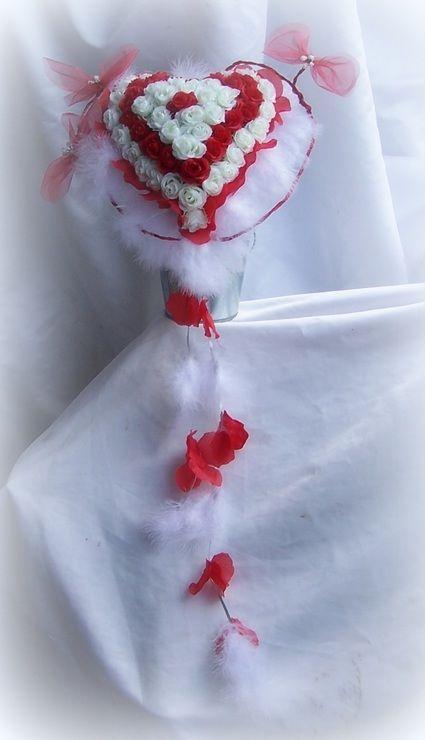 Bouquet de mariée coeur fait main