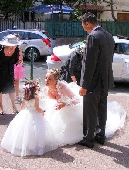 Robe de princesse 2 ans réplique de ma robe de mariée Pronovias