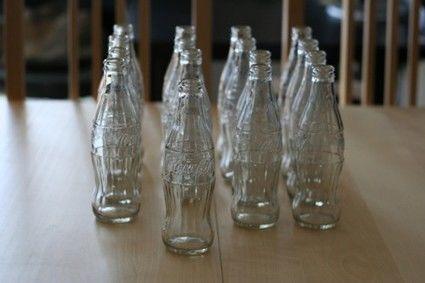 A louer Lot de 16 bouteilles en verre Coca-Cola - Occasion du Mariage