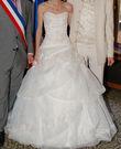 Robe de mariée ivoire avec touches de marron - Occasion du Mariage