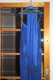 Robe cocktail longue bleue sytle Charleston - Occasion du Mariage