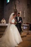 Voile de mariée long d'occasion avec peigne