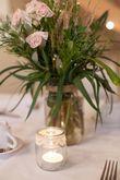 30 photophores champêtre dentelle et raphia - Occasion du Mariage
