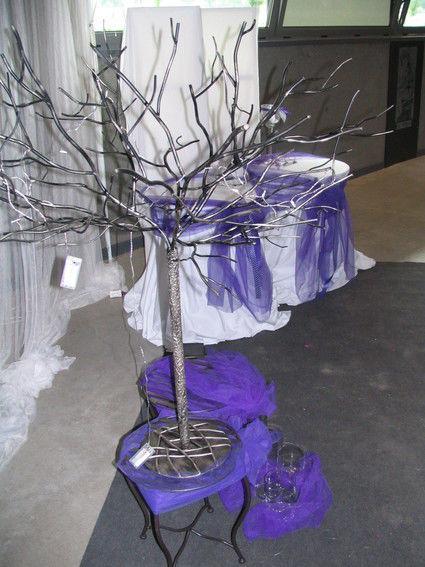 Arbre a dragées en métal en décoration de table de mariage