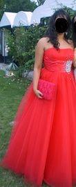 Robe de princesse rouge - Occasion du Mariage