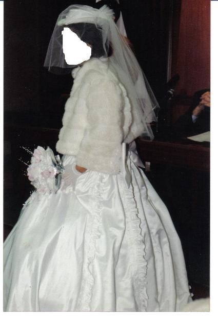 Robe de Mariée pas cher avec boléro et cerceau - Occasion du mariage