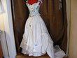 robe de cérémonie imprimée bleue ciel - Occasion du Mariage