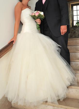 Robe de mariée Sarriette - Les Mariées de Provence, bustier en soir sauvage