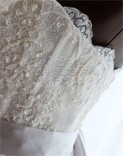 Robe de mariée style Vera Wang en dentelle et tulle
