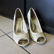 Escarpins ivoire peep toes dentelle - Occasion du Mariage