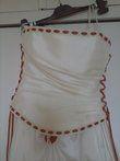 robe ivoire et orange - Occasion du Mariage