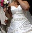 Robe de mariée en satin de couleur ivoire - Occasion du Mariage