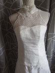 Robe de mariée dentelle ivoire T34 - Occasion du Mariage