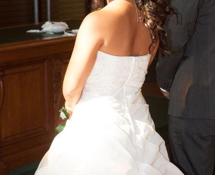 Robe de mariée d'occasion avec jupon offert taille 36