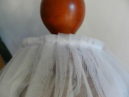 Voile de mariée en dentelle fine neuve, tulle très fin et souple