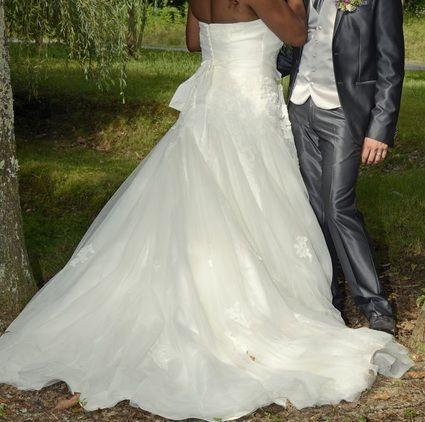 Robe de mariée Blanc naturelle marque Pronovias - Pyrénées Atlantiques