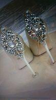 Chaussures Badgley Mischka modele Kiara ivoire  - Occasion du Mariage