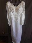 robe ceintrée perlée blanche - Occasion du Mariage