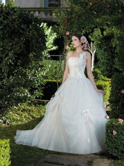 Robe de mariée  Divina Sposa DS122-07 avec voile + coussin alliance + coiffe
