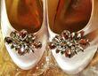 Belles ballerines de mariée style cendrillon  T41   - Occasion du Mariage