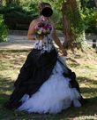 Robe mariée noire et blanche T38/40 - Occasion du Mariage