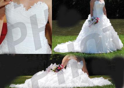 Magnifique robe de mariée ivoire d'occasion année 2012