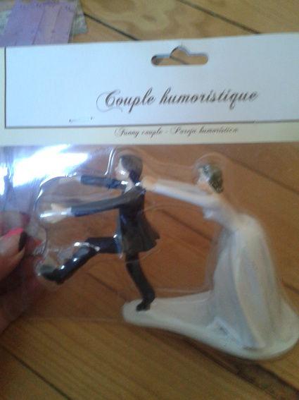 Figurine pour pièce montée en décoration de mariage